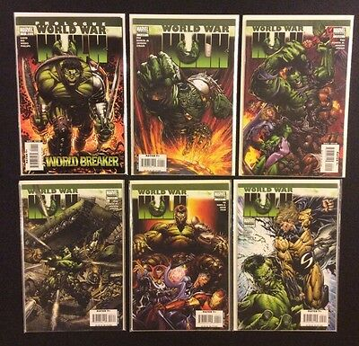 WORLD WAR HULK #1 - 5 Comic Books FULL SERIES +Prologue Marvel 2007 Romita Jr NM