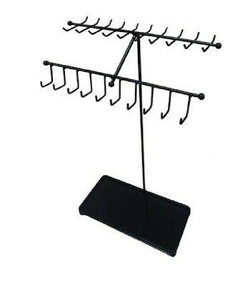 Necklace Bracelet Rack Stand Jewelry Organizer Display Holder Ring Storage Metal