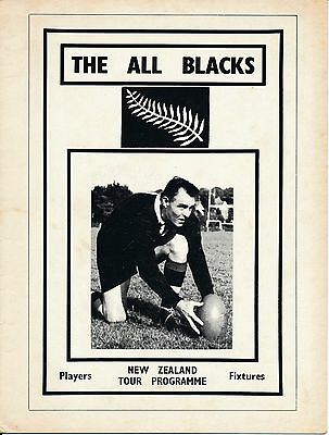 RUGBY UNION PROGRAMME: New Zealand Tour 1972 PIRATE edition