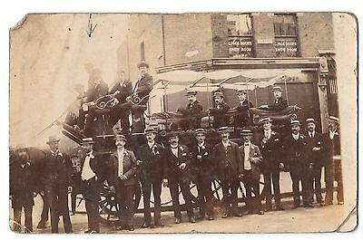Horse Drawn Charabanc With Edwardian Group RP PPC Possibly Leyton, London