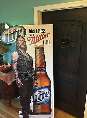 Miller Lite Danny Trejo Machete Most Interesting Sign Stand Up ~ NEW ~ 6' Tall
