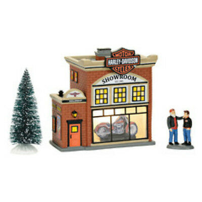 Harley Davidson Showroom Set Snow Village by Department 56