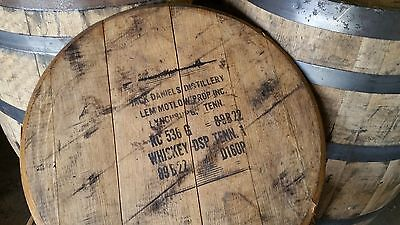 Authentic Jack Daniels Bourbon Whiskey Barrel Head Tops w/ Stamp
