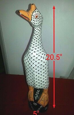 Wooden Goose 20.5'' Tall Hand Painted