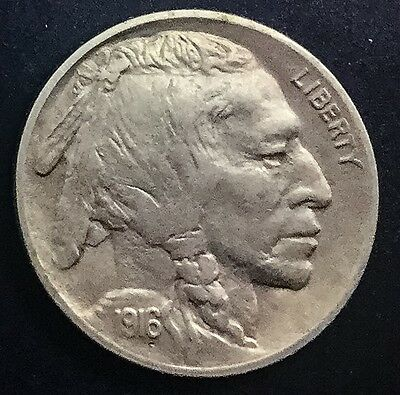1916  P  Buffalo  Nickel Very Nice Coin Full Horn And Eye Head Detail