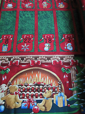 Patchwork & Quilting Christmas Cotton Fabric Advent Calendar Panel Nutex 89000
