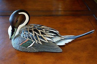 VINTAGE Pin Tail Male Duck GOSSET WILDLIFE COLLECTION 413/2000 L.E.1989