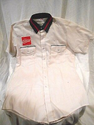 Coca Cola Unitog Delivery Workers Uniform Shirt 15-15 1/2-Never Worn