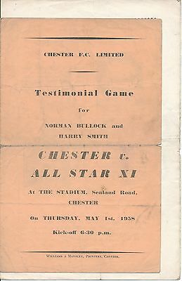 Chester v All Star X1 (Bullock Smith Testimonial) 1958