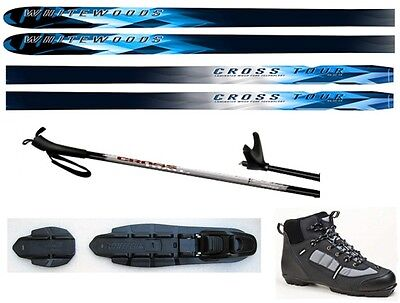 NEW CROSS TOUR XC cross country NNN SKIS/BINDINGS/BOOTS/POLES PACKAGE - 177cm