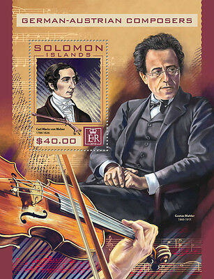 SOLOMON ISLANDS 2016 ** Composers von Weber S/S #409b
