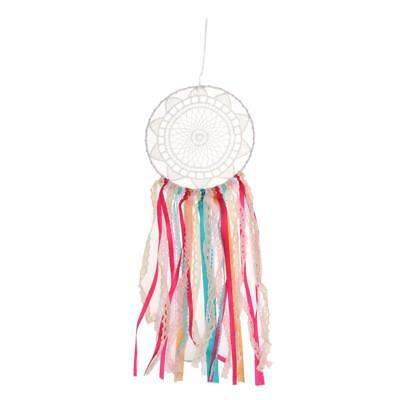 Hanging Dreamcatcher Wind Chime Muticolor Tassel Lace Ribbon Dream Catcher