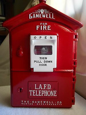 Gamewell Los Angeles LAFD 1950's Fire Alarm Call Box Telephone Old Phone Police