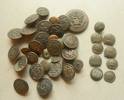 Original WW1 Buttons, American and European, little over half a pound.