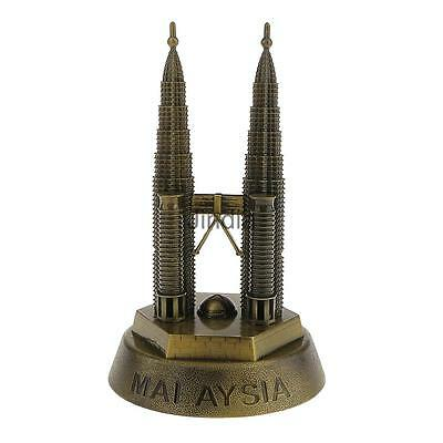 METAL KLCC PETRONAS TWIN TOWER ARCHITECTURE BUILDING REPLICA DECOR Gift 16CM