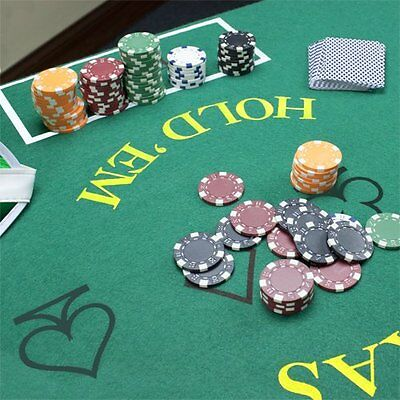 Poker Texas Hold'em Blackjack Table Top Mat Pad Cover Layout Casino Felt 2 Side