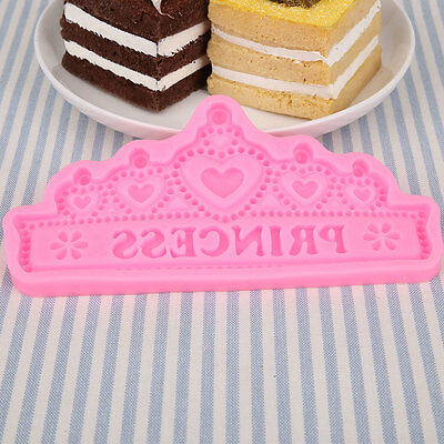 Happy Birthday Crown Silicone Cake Cookies Decorating Baking Kitchen Mould Tool