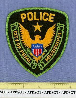 CITY of PETAL MISSISSIPPI MS Sheriff Police Patch GOLD EAGLE STAR