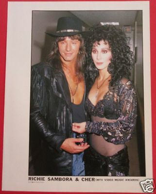 Cher & Richie Sambora Bon Jovi 1989 Clipping Japan Magazine Pg 11A