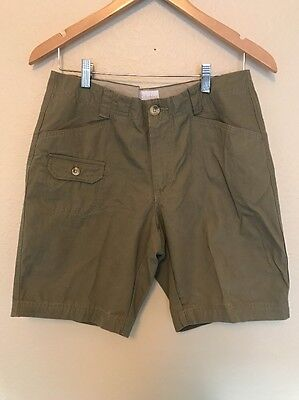 """Columbia Womens Shorts Size 8, 9"""" Inseam Hiking Green Cotton Outdoor"""