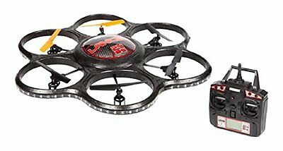 World Tech Toys 2.4Ghz Lancer UFO Spy Drone with Video Camera RC Hexacopter