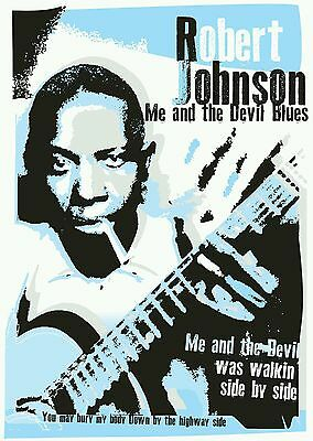 Robert Johnson blues poster specially designed print