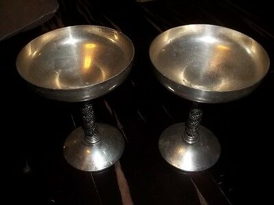 Two Silver Plated wine Goblets from Bridelane made in Spain