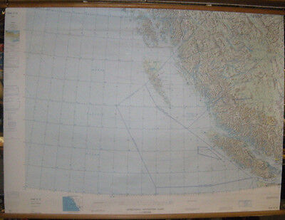Vintage Operational Navigation Chart ONC-E-15 Canadian West Coast Exp.18/04/1972