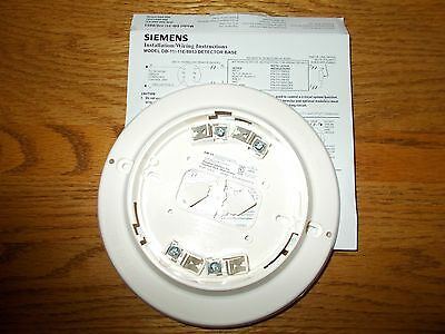 siemens DB-11 detector base fire alarms new!
