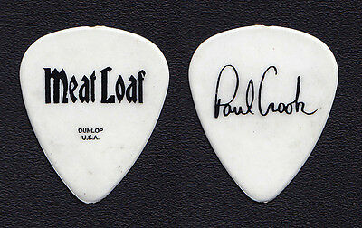 Meat Loaf Paul Crook Signature White Tour Guitar Pick