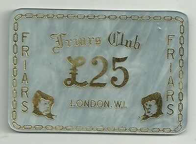 £25 plaque from the Friar's Club, London W1.......? (2)