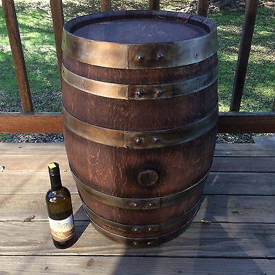 Mini Rustic Wine Barrel 20 gallon whiskey diy table end side patio stand vintage