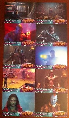 Guardians Of The Galaxy 2014 Movie Trading Cards Lot X10