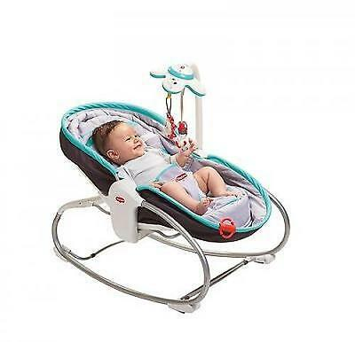 Tiny Love 3-in-1 Rocker Napper - Grey/Turquoise NEW - Baby Chair Bouncer - Seat