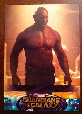 Guardians Of The Galaxy 2014 Movie Trading Card Sp Bautista As Drax  # 92