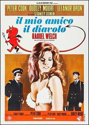 BEDAZZLED Italian 2F movie poster 39x55 RAQUEL WELCH DUDLEY MOORE 1968 VERY RARE