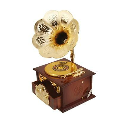 Vintage Gramophone Music Box Kids Gift Collectibles Home Room Decoration