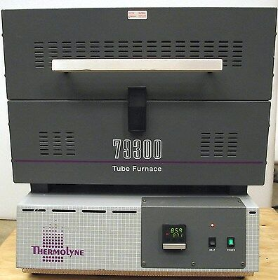 "Thermolyne 79300 Benchtop Tube Furnace F79325 - 1200 C / 4 mo Wrty / 1-3"" Tubes"