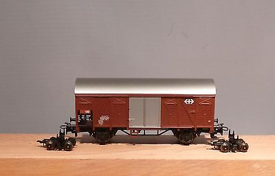 Bemo H0e 2210851 Covered Freight Wagons (H0) SBB with two Roll-blocks NIP