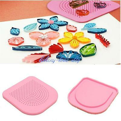 Plastic Quiller's Grid Guide Origami Paper Quilling Tool DIY Paper Craft Gift J