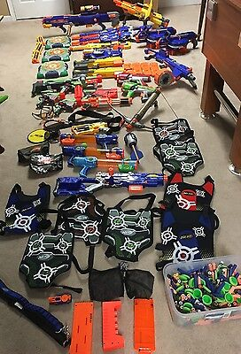 HUGE NERF GUNS LOT Guns Accessories Darts More Ship In USA Only!