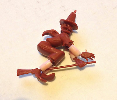 R&l 1971 Cereal Toy Puppet People ~ Witch, Rare Brown ~ Aussie Original