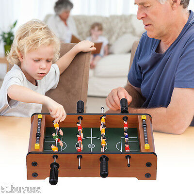 Mini Table Top Foosball 13'' Soccer Game Table Family Sports Kids Toy Xmas Gift