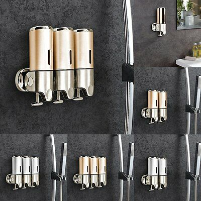 Stainless Steel Wall Mounted Bathroom Soap Shampoo Container Dispenser UK BY