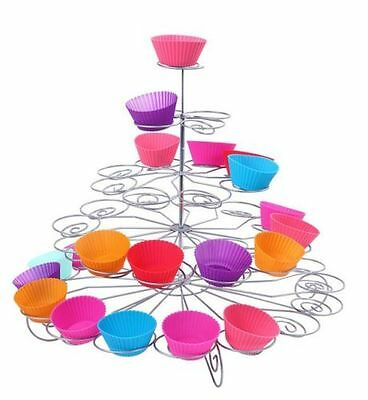 5Tier 41 Cupcake Party Stand Cup Cake Holder Wedding Birthday Table Decoration