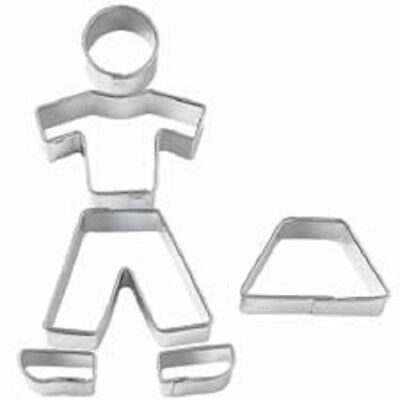 Mini Cookie Fondant Cutter Cut Out Set - Square, Round, Oval, Blossom, People