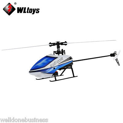 Wltoys V977 6CH RC 2.4GHz Gyroscope Helicopter Brushless Flybarless 3D Aircraft