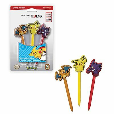 RDS Industries Inc Pokemon Stylus set 3-Pack For Nintendo NEW 3DS XL/2DS/3DS