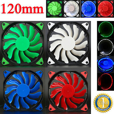 Quiet 120mm DC 12V3+4pin LED Effects Computer CPU Case Fan for Radiator Mod Lot