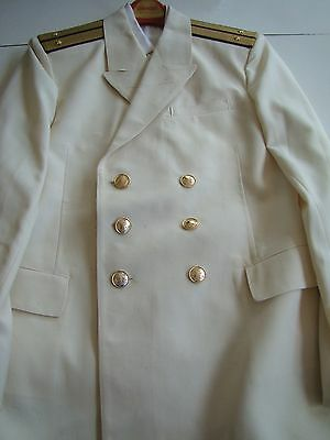 USSR CCCP SOVIET NAVY NAVAL OFFICER'S MID 80's DOUBLE BREASTED SUMMER UNIFORM